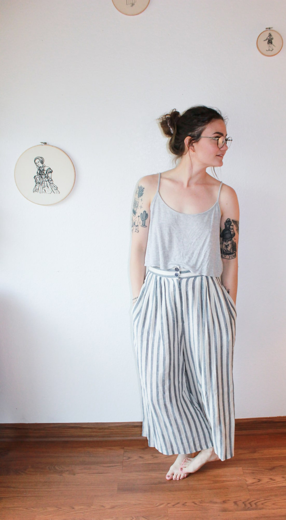 Striped Cotton Pants 2