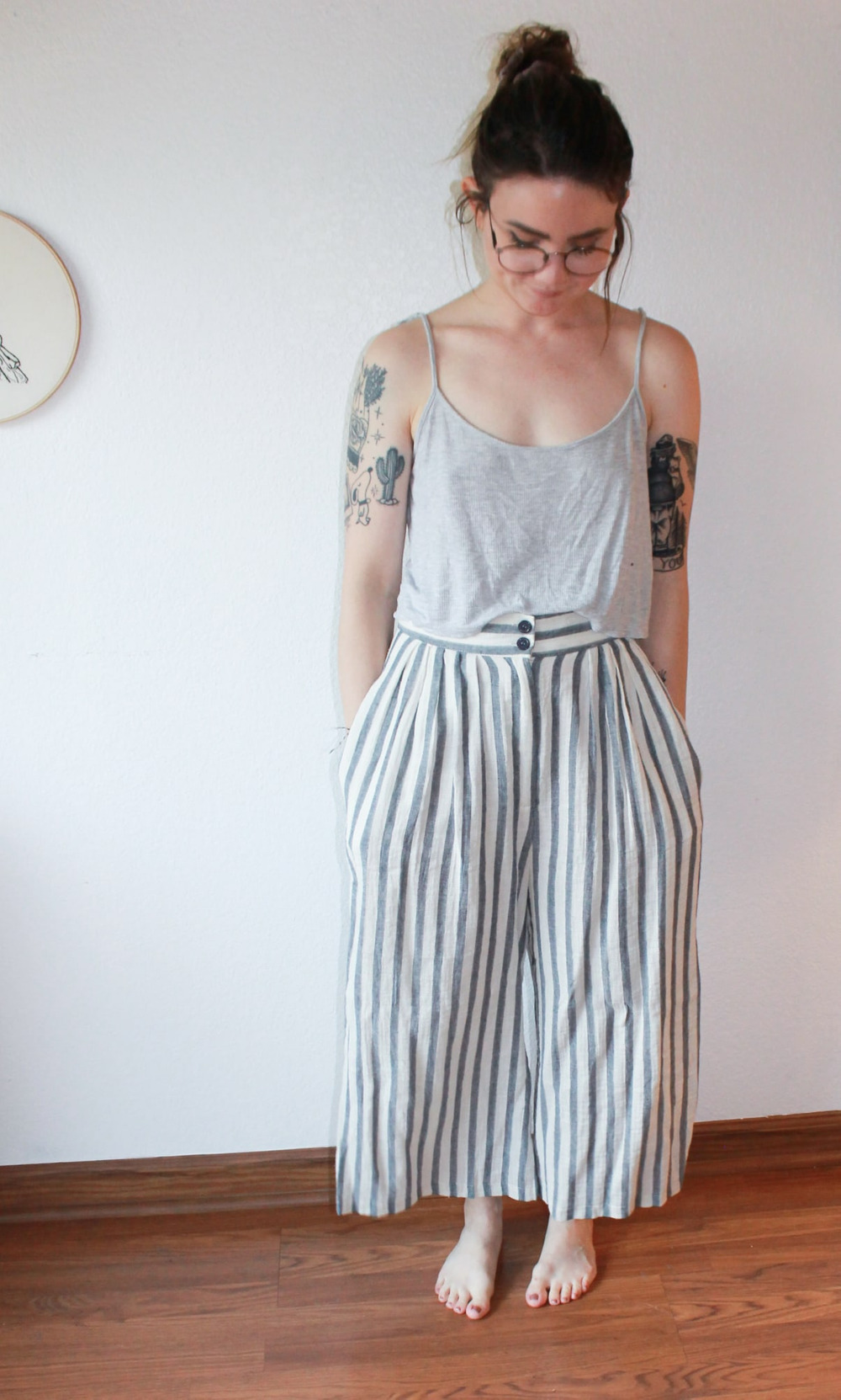 Striped Cotton Pants 1
